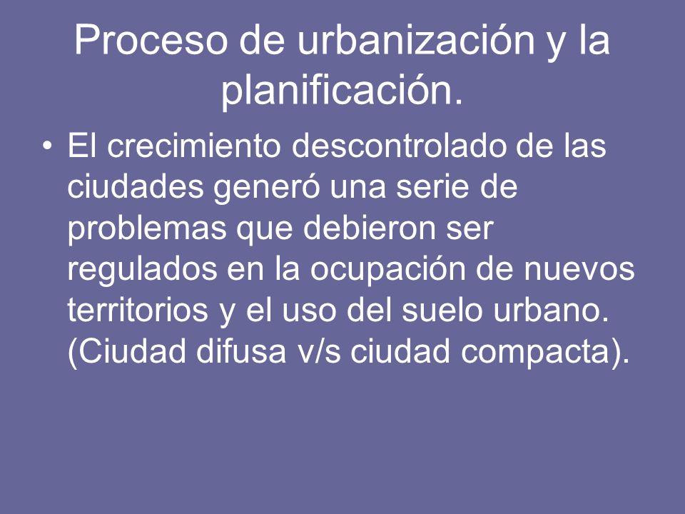 Proceso de urbanización y la planificación.