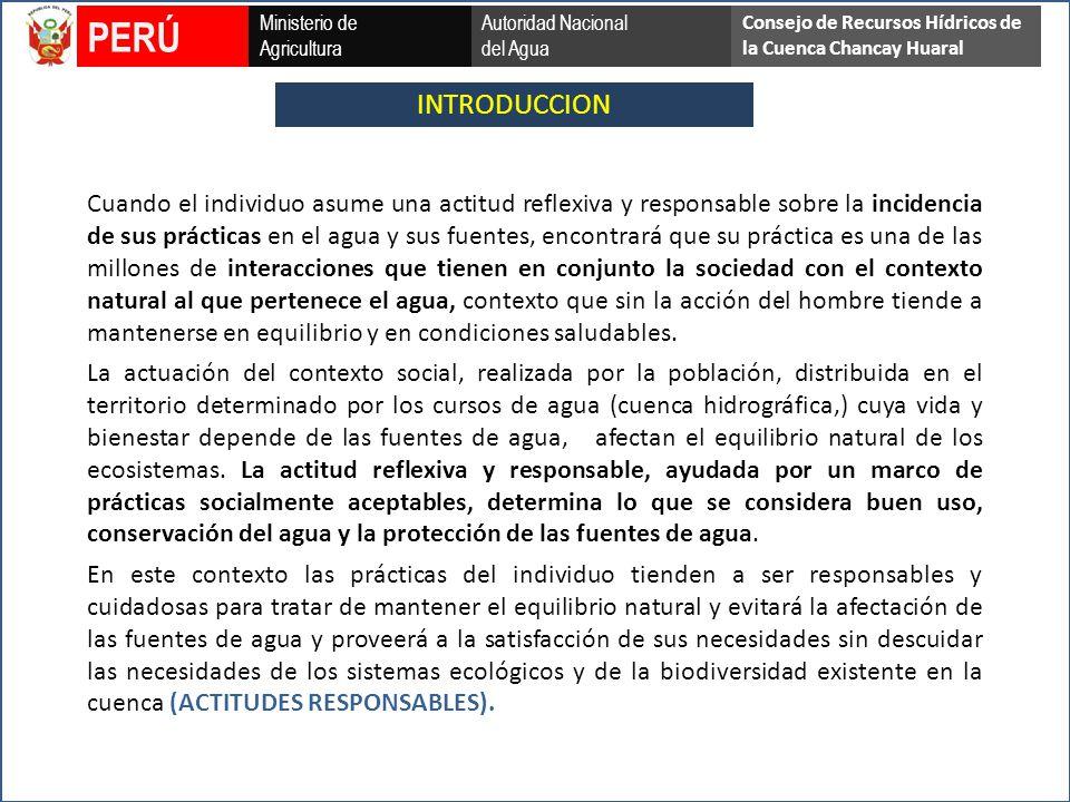 PERÚ Ministerio de. Agricultura. Autoridad Nacional. del Agua. Consejo de Recursos Hídricos de la Cuenca Chancay Huaral.