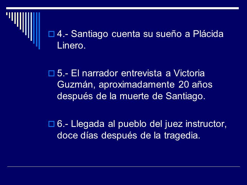 4.- Santiago cuenta su sueño a Plácida Linero.