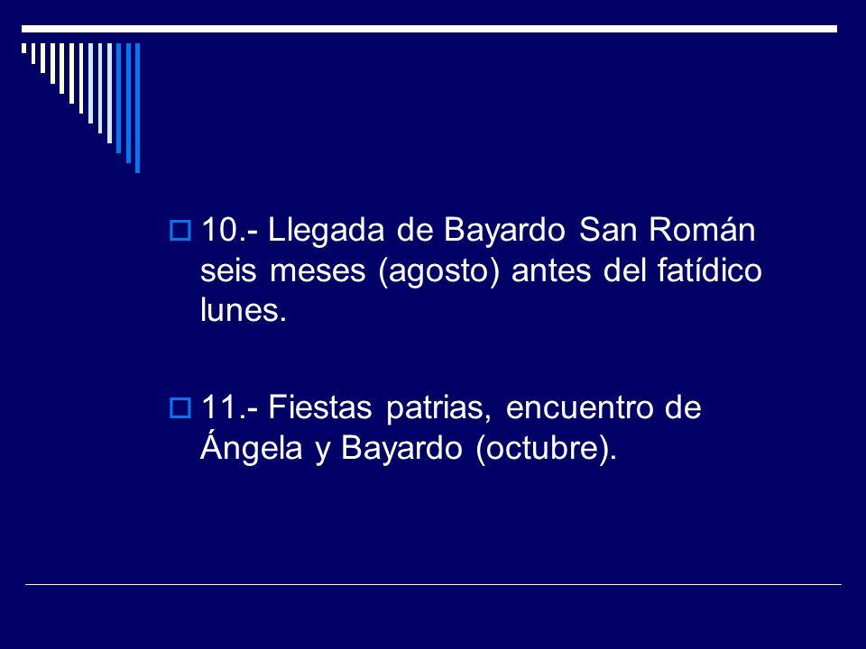 10.- Llegada de Bayardo San Román seis meses (agosto) antes del fatídico lunes.
