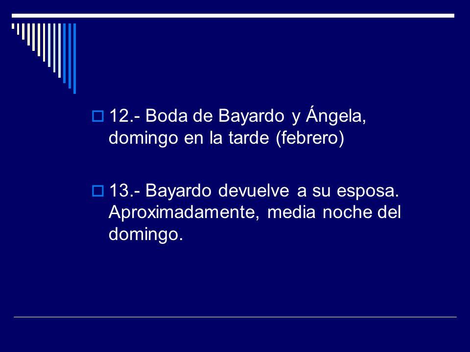12.- Boda de Bayardo y Ángela, domingo en la tarde (febrero)
