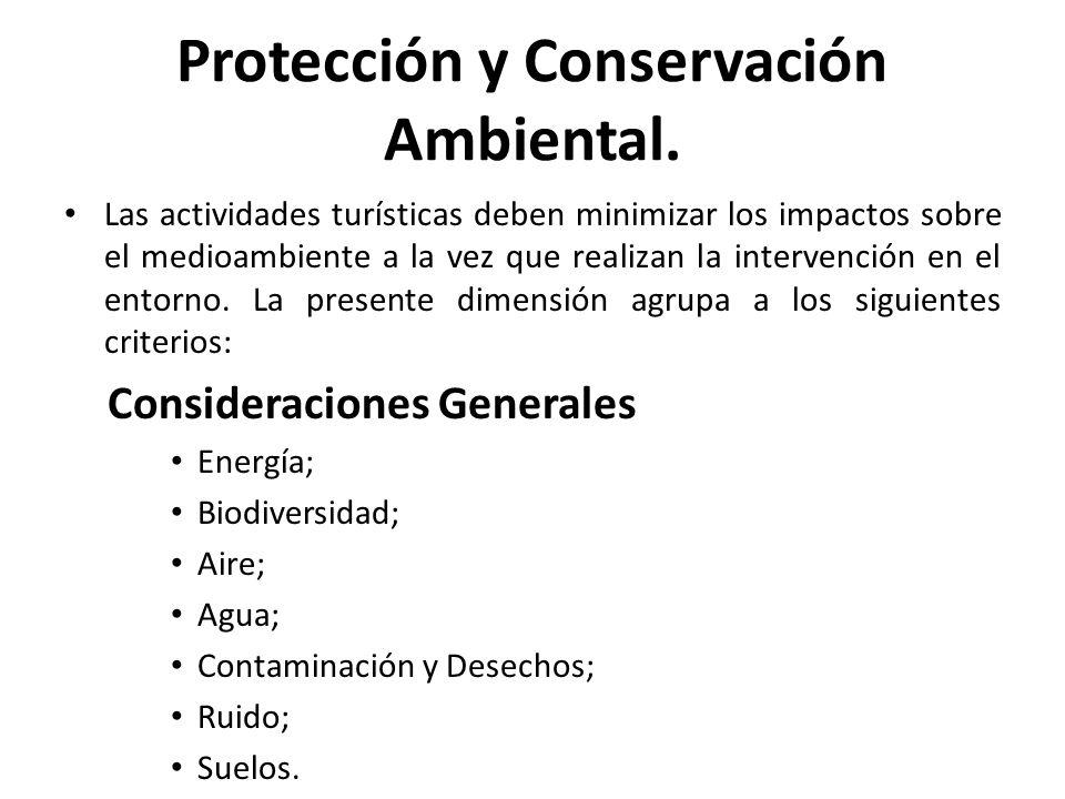 Protección y Conservación Ambiental.