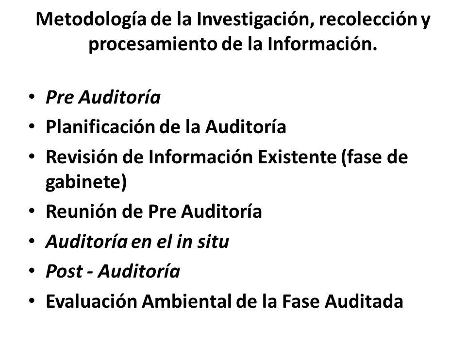 Metodología de la Investigación, recolección y procesamiento de la Información.