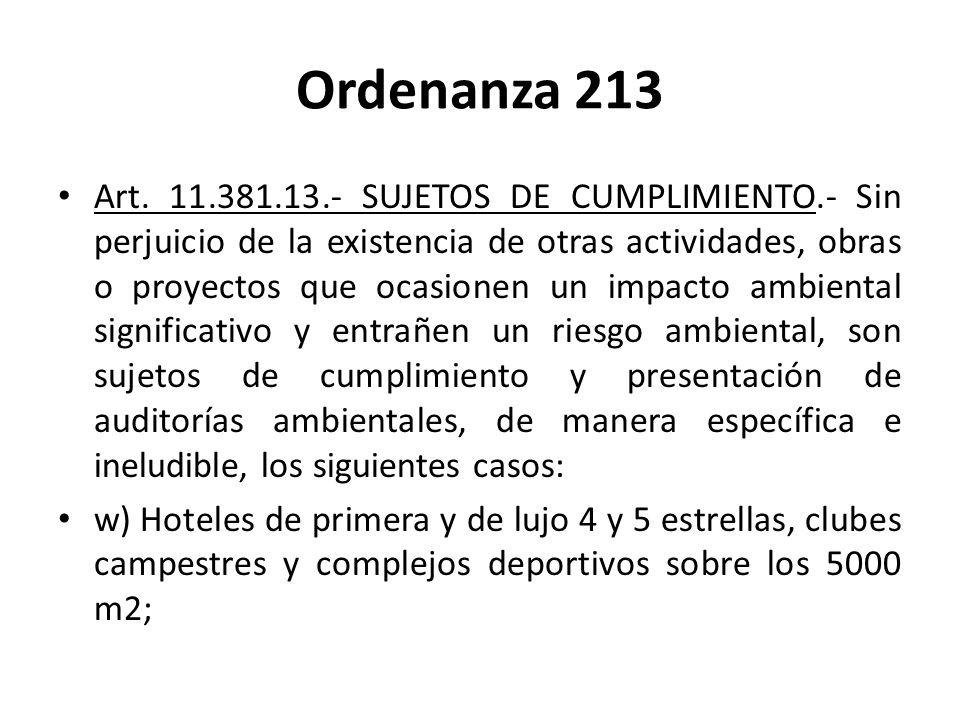 Ordenanza 213