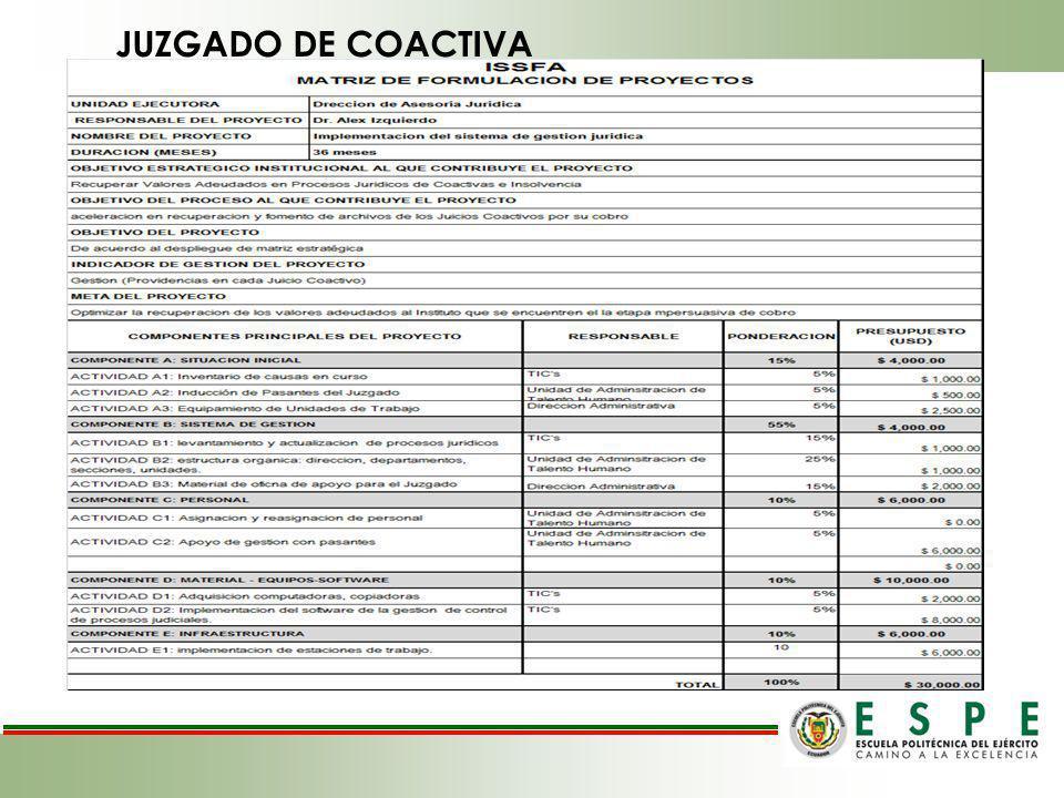 JUZGADO DE COACTIVA