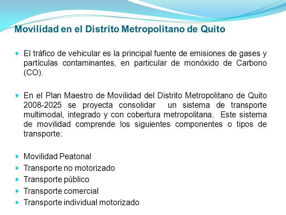 Movilidad en el Distrito Metropolitano de Quito