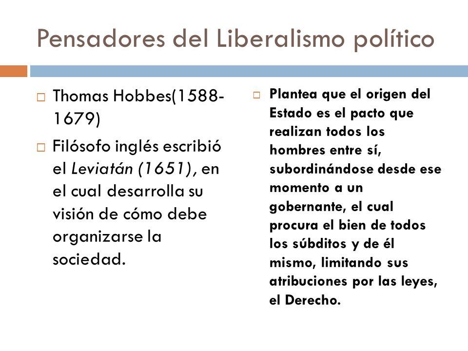Pensadores del Liberalismo político
