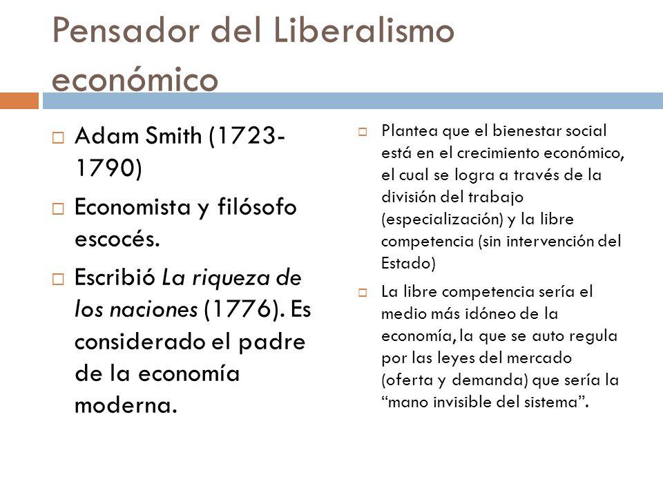 Pensador del Liberalismo económico