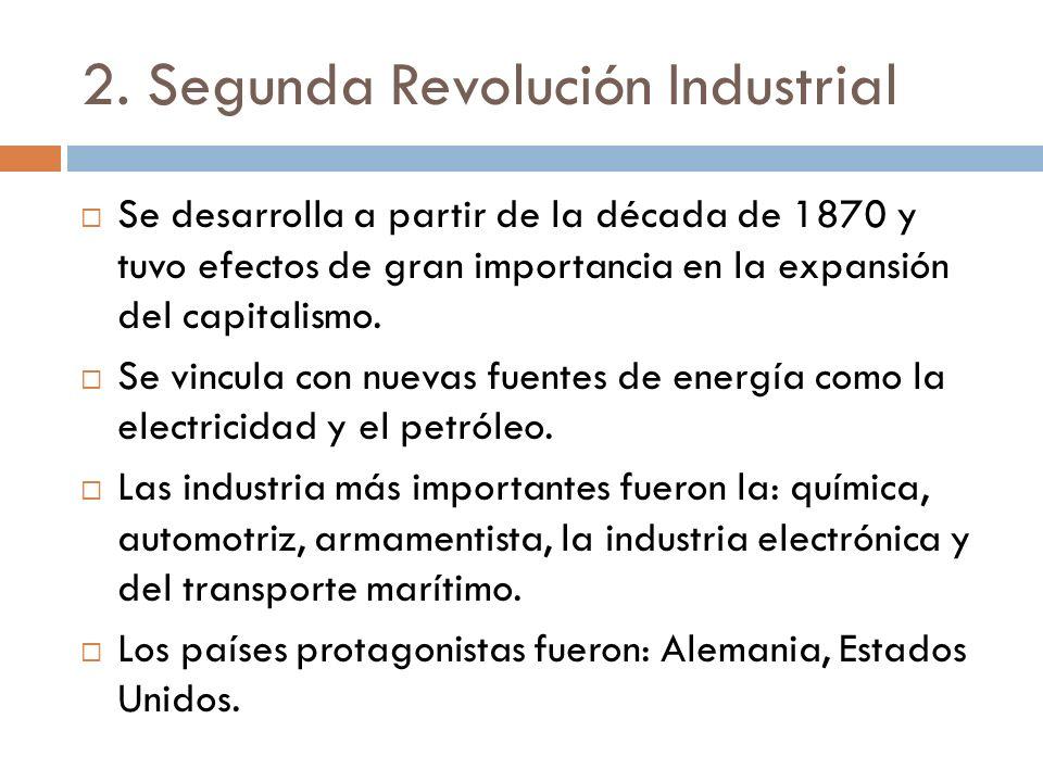 2. Segunda Revolución Industrial