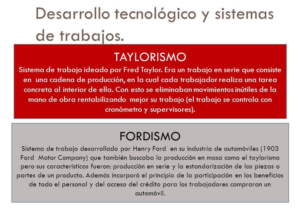 Desarrollo tecnológico y sistemas de trabajos.