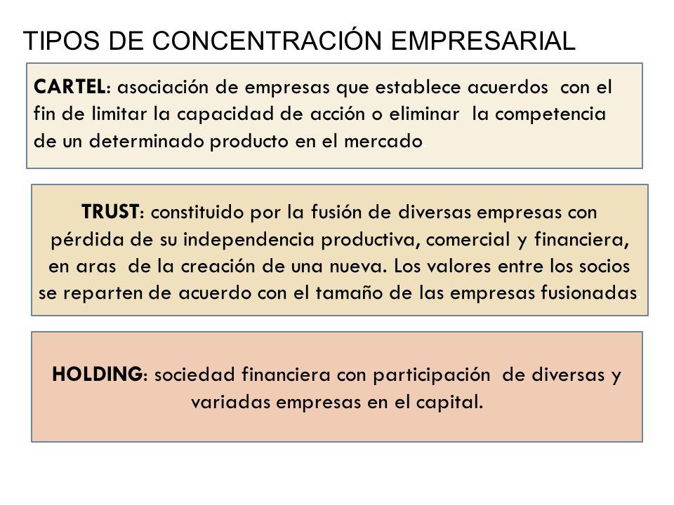 TRUST: constituido por la fusión de diversas empresas con