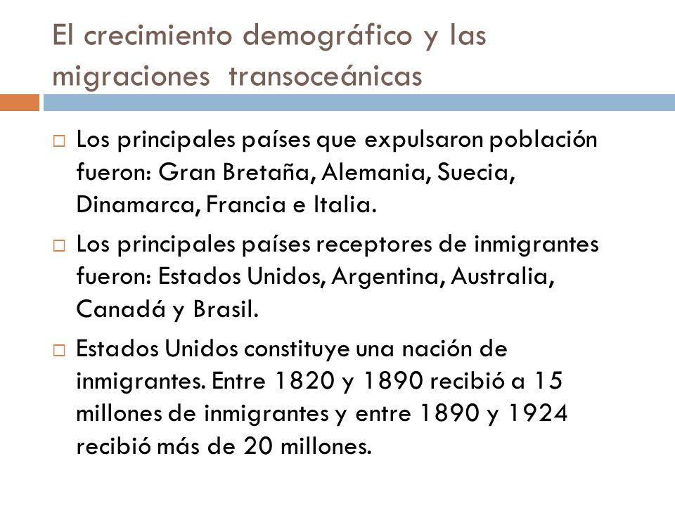 El crecimiento demográfico y las migraciones transoceánicas