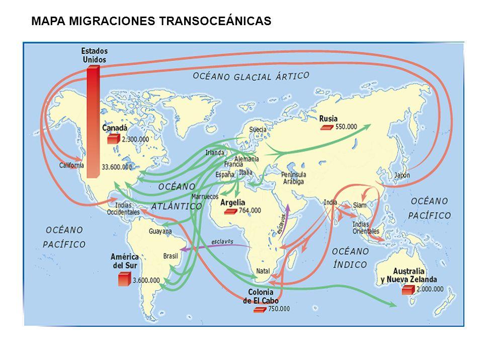 MAPA MIGRACIONES TRANSOCEÁNICAS