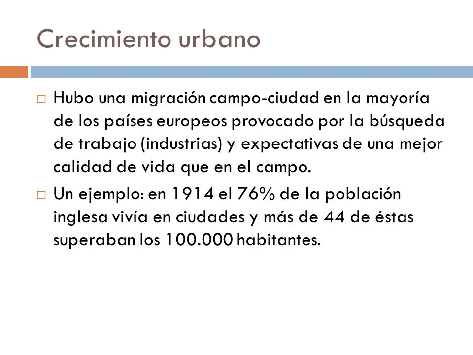 Crecimiento urbano