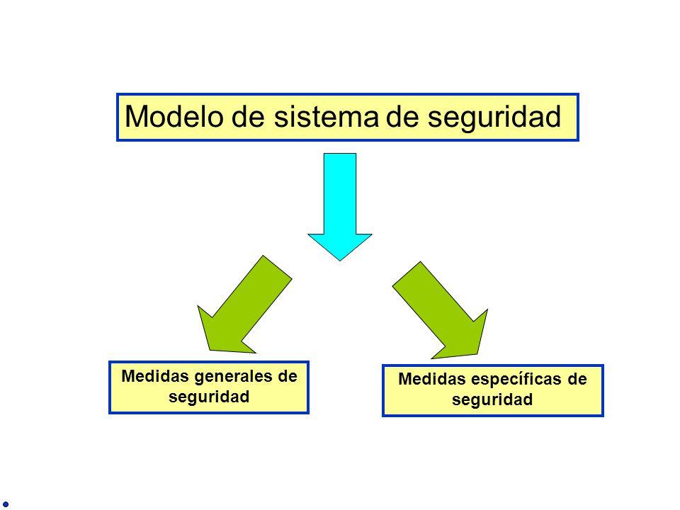 Medidas generales de seguridad Medidas específicas de seguridad