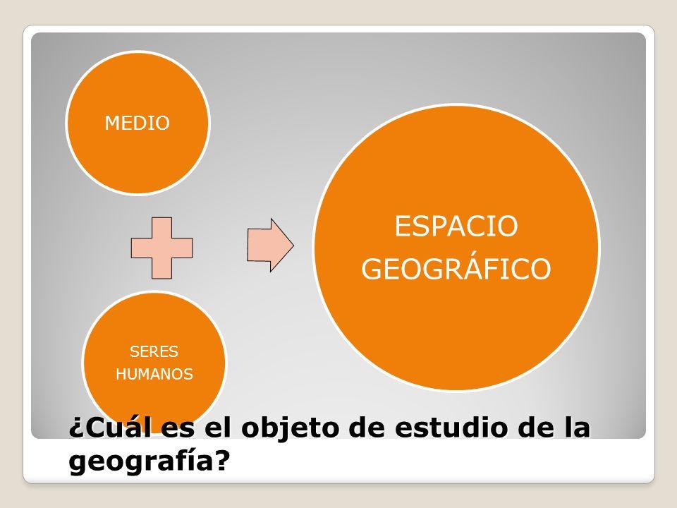 ¿Cuál es el objeto de estudio de la geografía