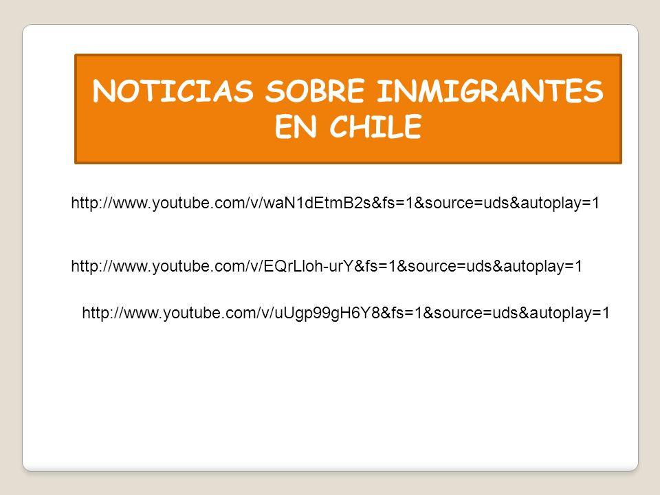 NOTICIAS SOBRE INMIGRANTES EN CHILE