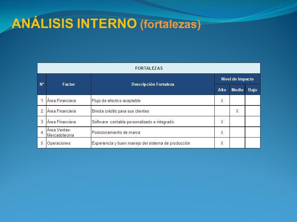ANÁLISIS INTERNO (fortalezas)