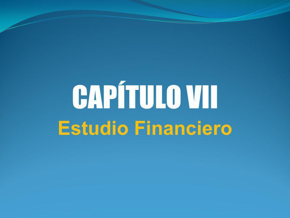 CAPÍTULO VII Estudio Financiero