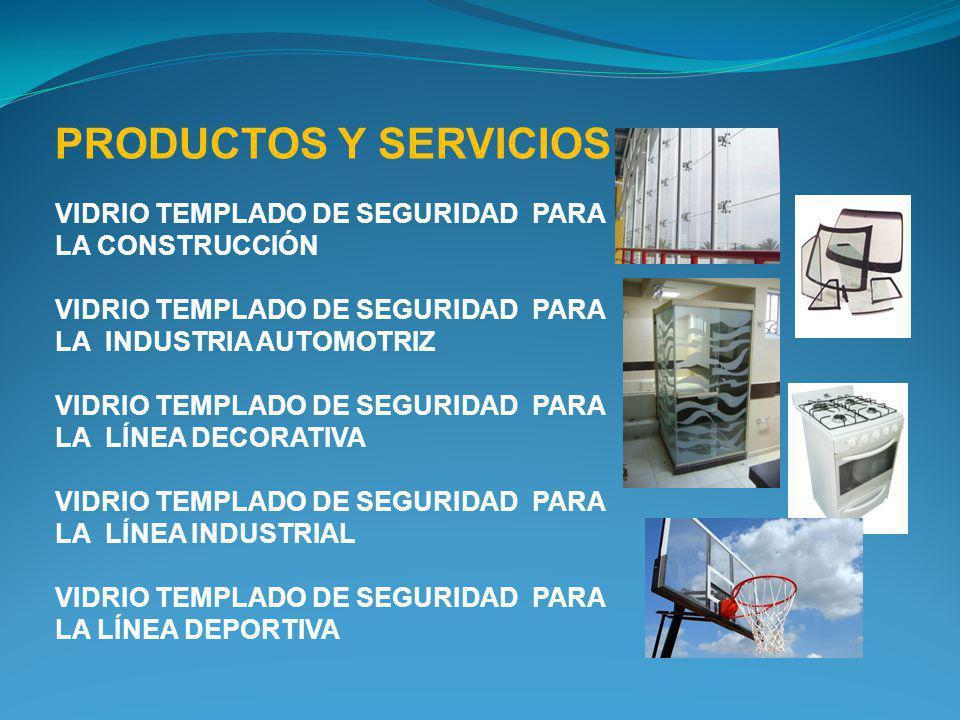 PRODUCTOS Y SERVICIOS VIDRIO TEMPLADO DE SEGURIDAD PARA LA CONSTRUCCIÓN. VIDRIO TEMPLADO DE SEGURIDAD PARA LA INDUSTRIA AUTOMOTRIZ.