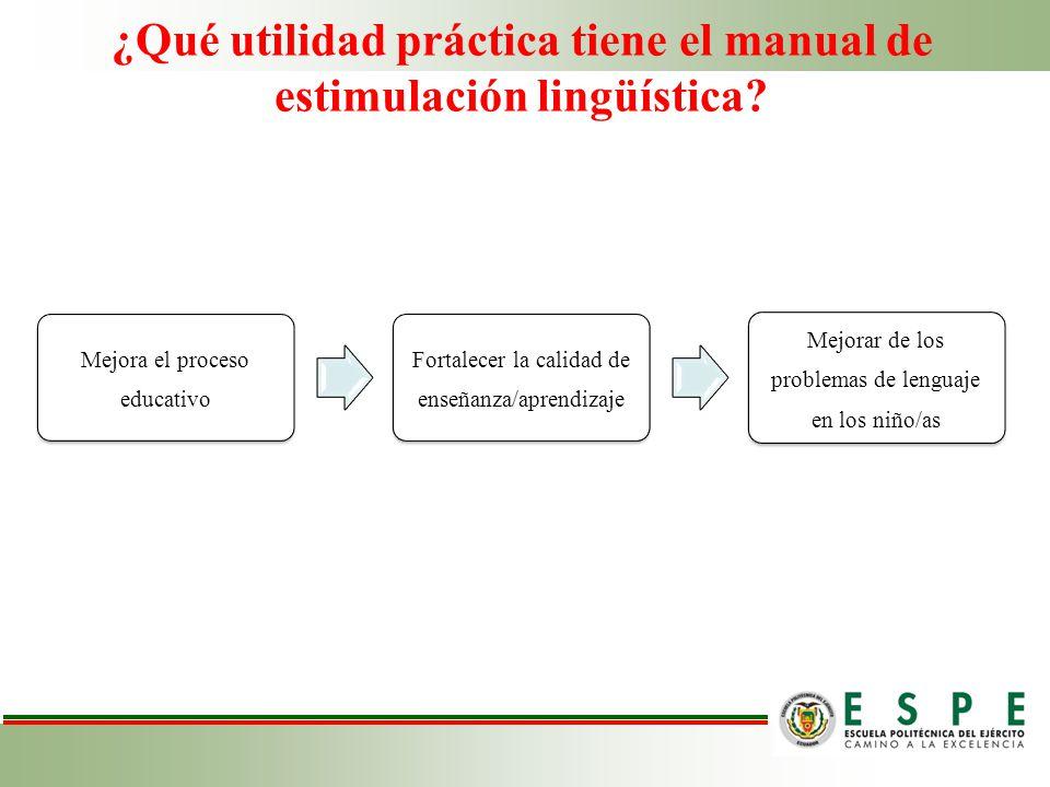 ¿Qué utilidad práctica tiene el manual de estimulación lingüística
