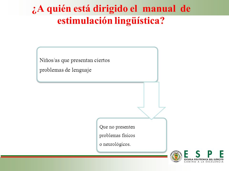 ¿A quién está dirigido el manual de estimulación lingüística