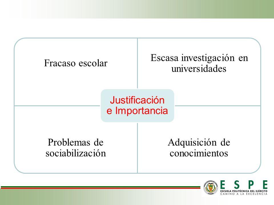 Justificación e Importancia Fracaso escolar