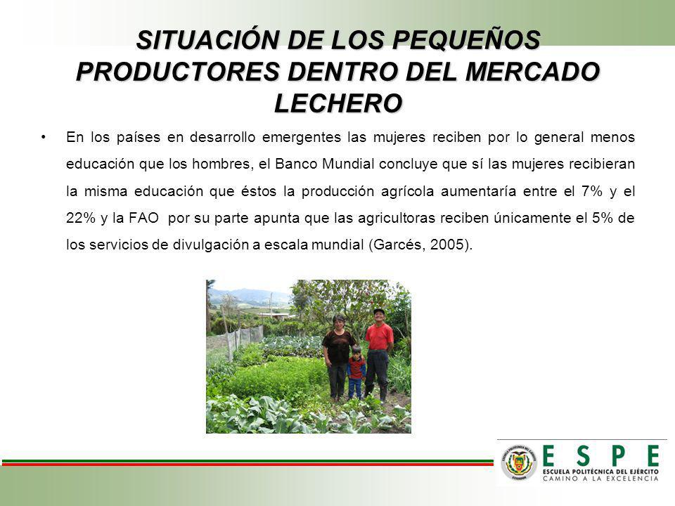 SITUACIÓN DE LOS PEQUEÑOS PRODUCTORES DENTRO DEL MERCADO LECHERO