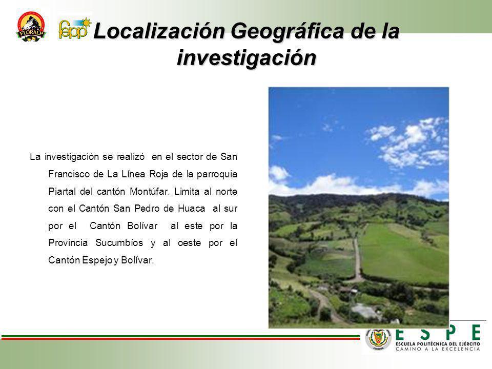 Localización Geográfica de la investigación