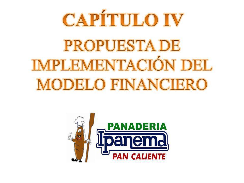 CAPÍTULO IV PROPUESTA DE IMPLEMENTACIÓN DEL MODELO FINANCIERO