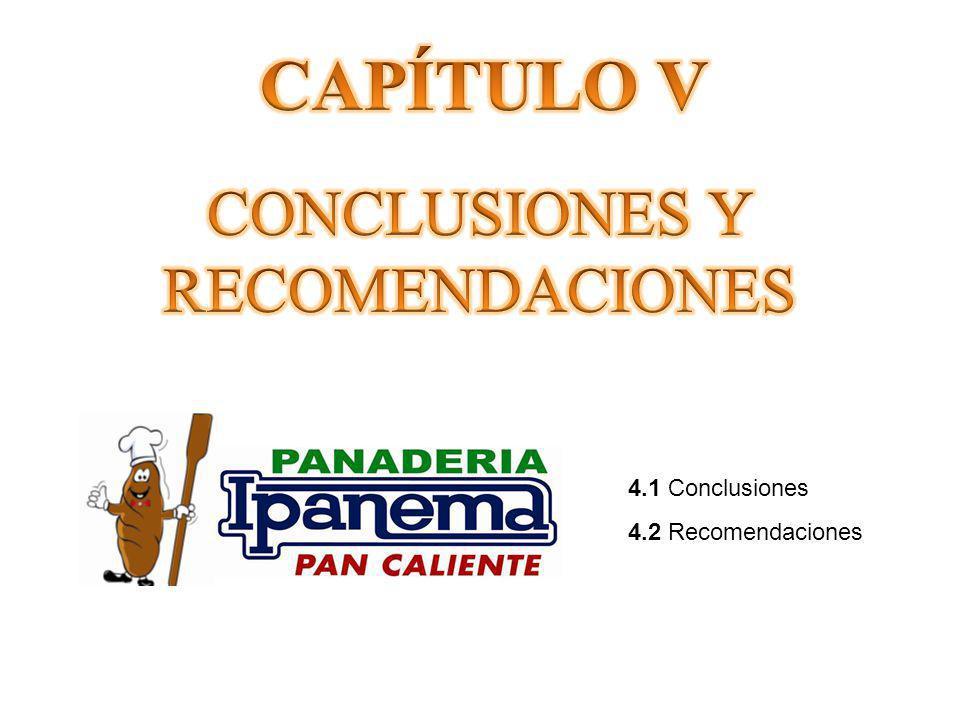 CAPÍTULO V CONCLUSIONES Y RECOMENDACIONES 4.1 Conclusiones