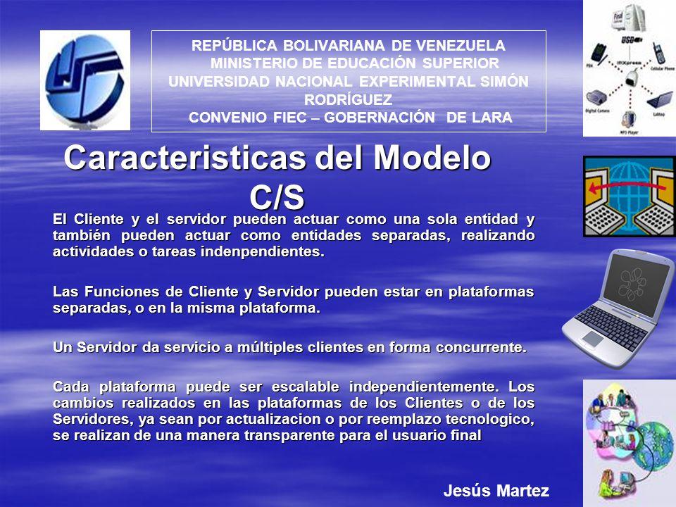 Caracteristicas del Modelo C/S