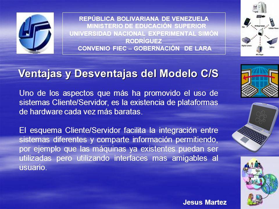 Ventajas y Desventajas del Modelo C/S