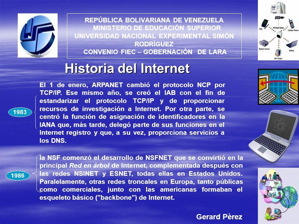 Historia del Internet Gerard Pèrez