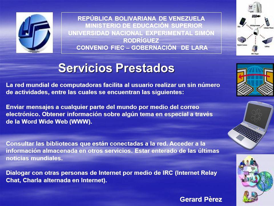 Servicios Prestados Gerard Pèrez