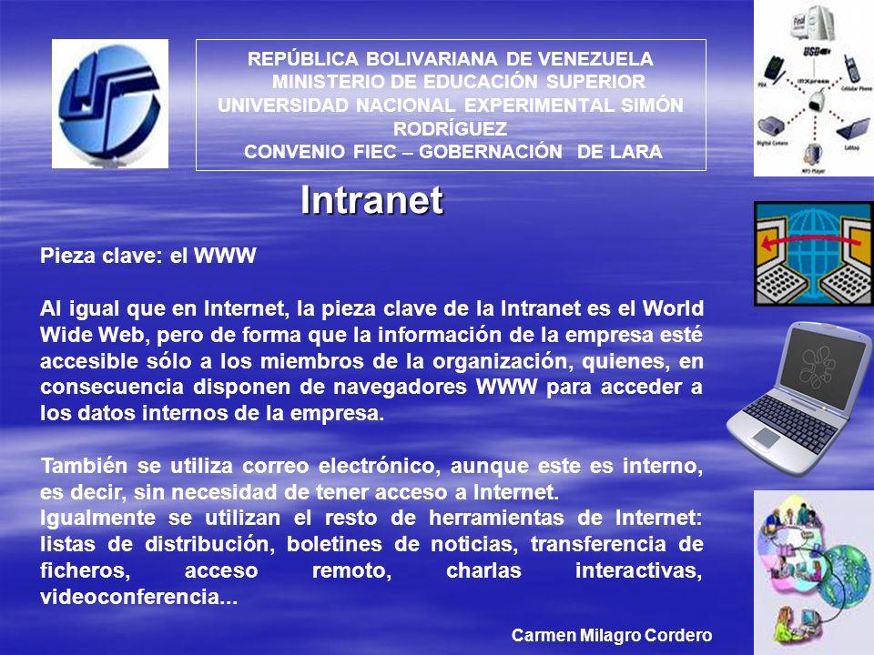Intranet Pieza clave: el WWW