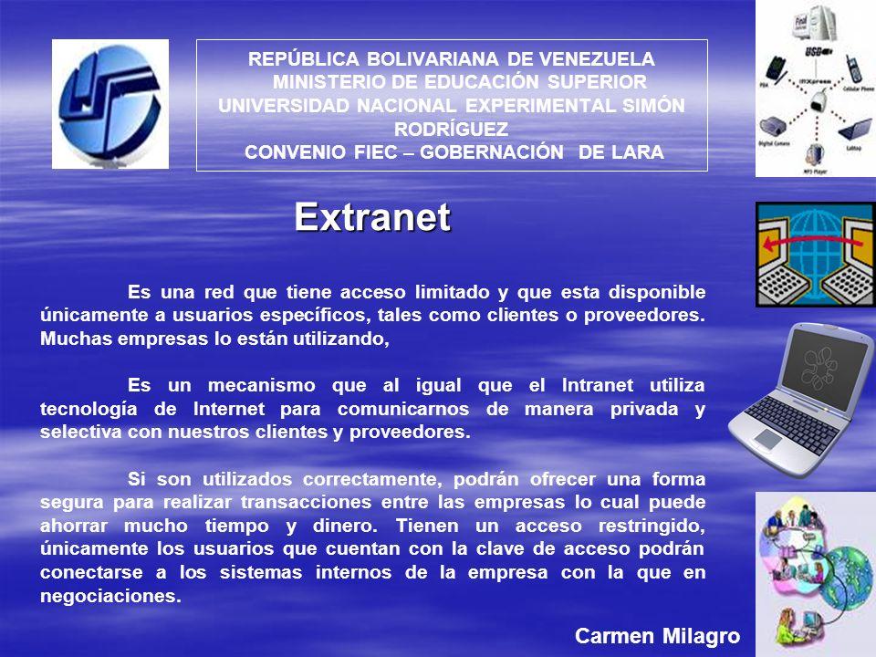 Extranet Carmen Milagro