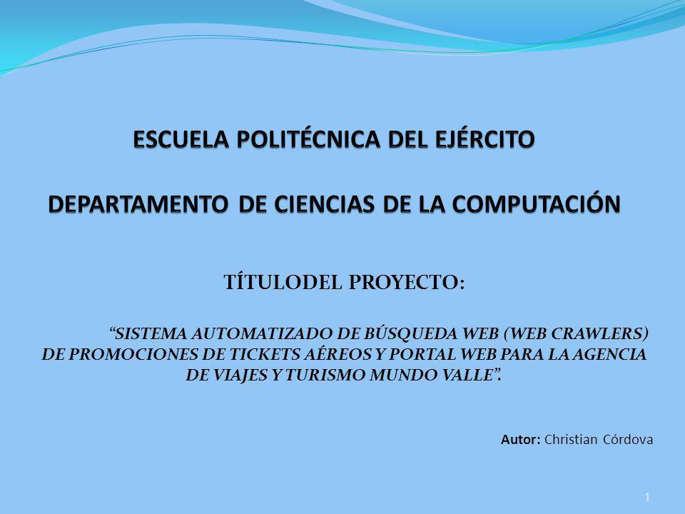 ESCUELA POLITÉCNICA DEL EJÉRCITO DEPARTAMENTO DE CIENCIAS DE LA COMPUTACIÓN