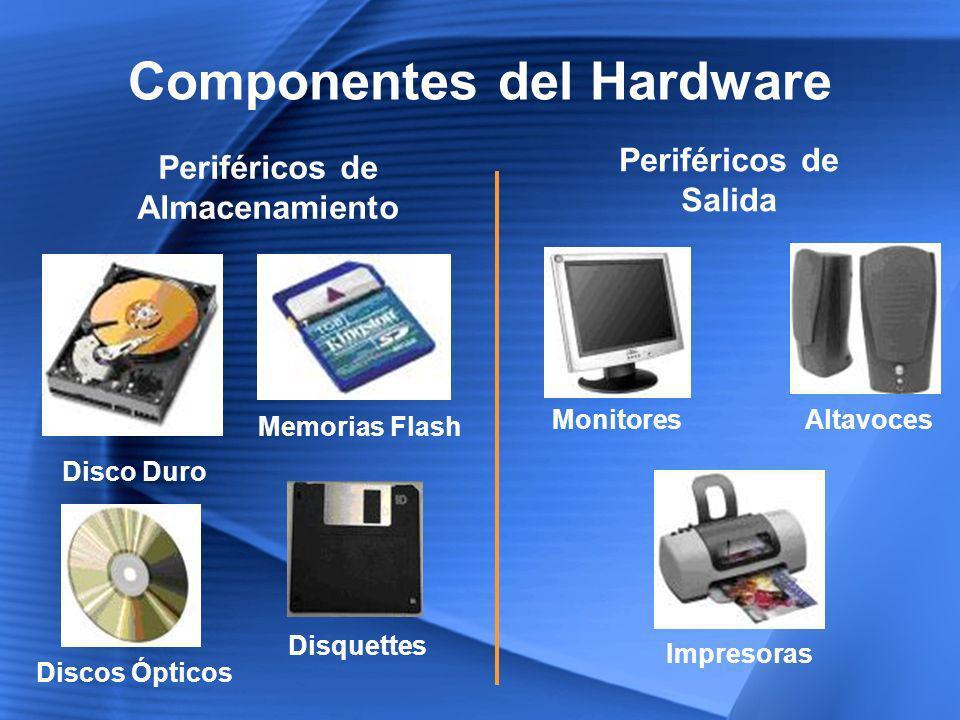 Componentes del Hardware Periféricos de Almacenamiento