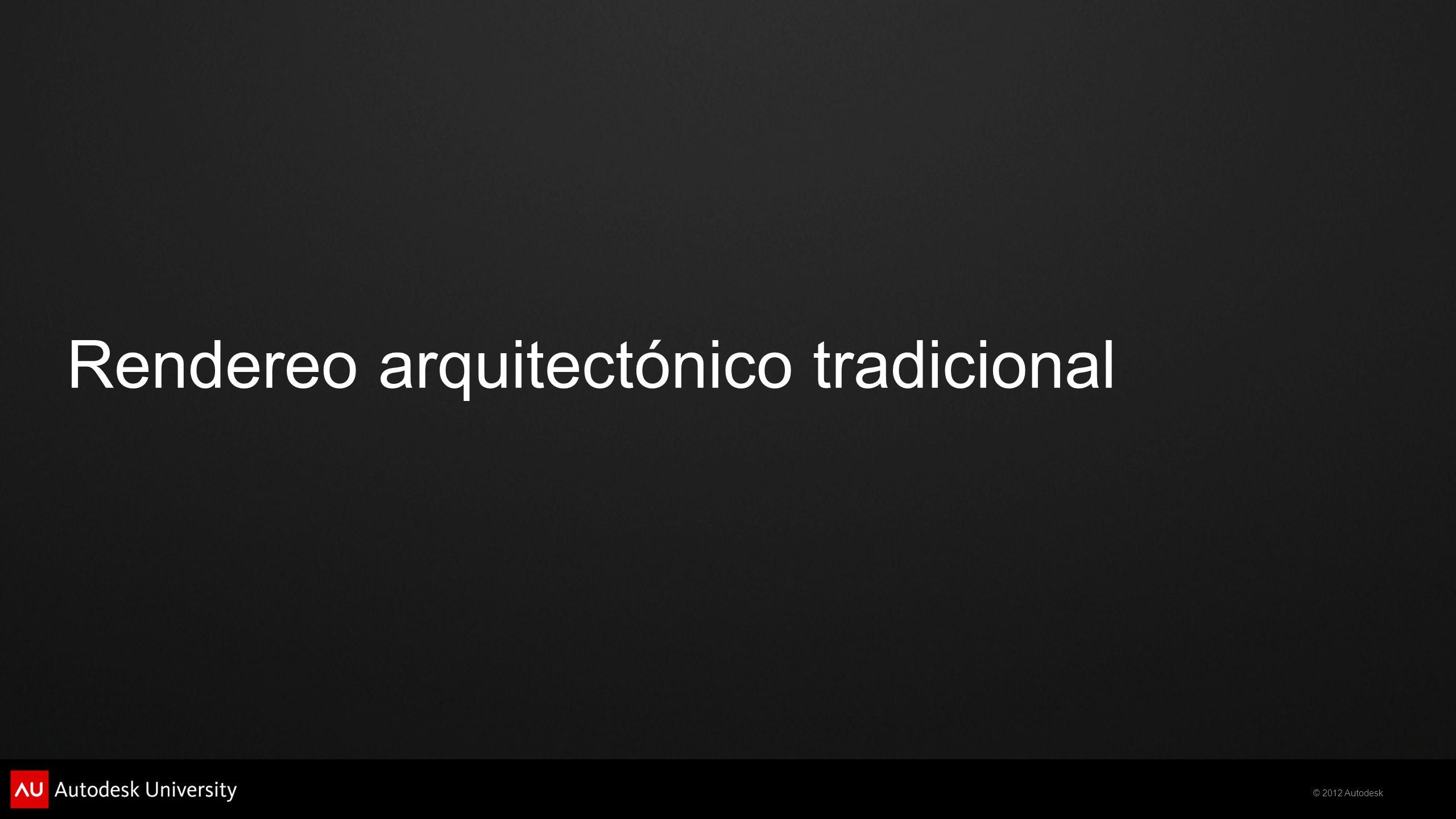 Rendereo arquitectónico tradicional