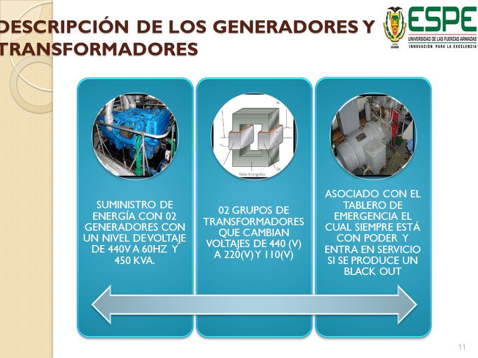 DESCRIPCIÓN DE LOS GENERADORES Y TRANSFORMADORES
