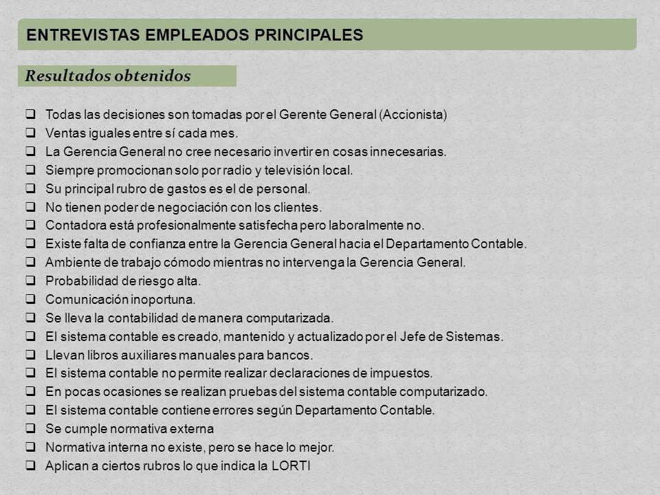 ENTREVISTAS EMPLEADOS PRINCIPALES