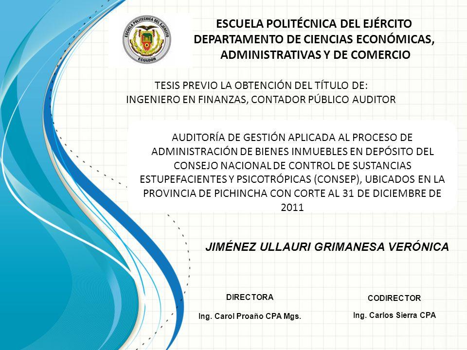 JIMÉNEZ ULLAURI GRIMANESA VERÓNICA Ing. Carol Proaño CPA Mgs.