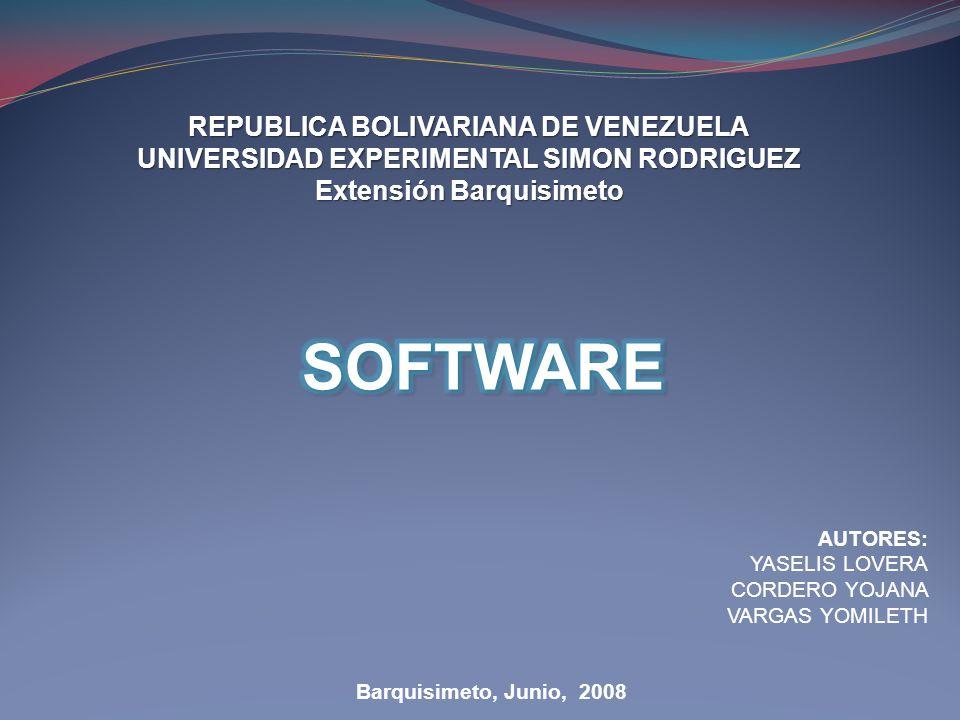 REPUBLICA BOLIVARIANA DE VENEZUELA UNIVERSIDAD EXPERIMENTAL SIMON RODRIGUEZ Extensión Barquisimeto