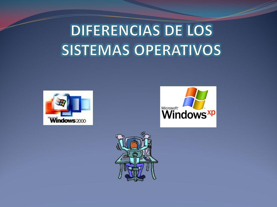 DIFERENCIAS DE LOS SISTEMAS OPERATIVOS
