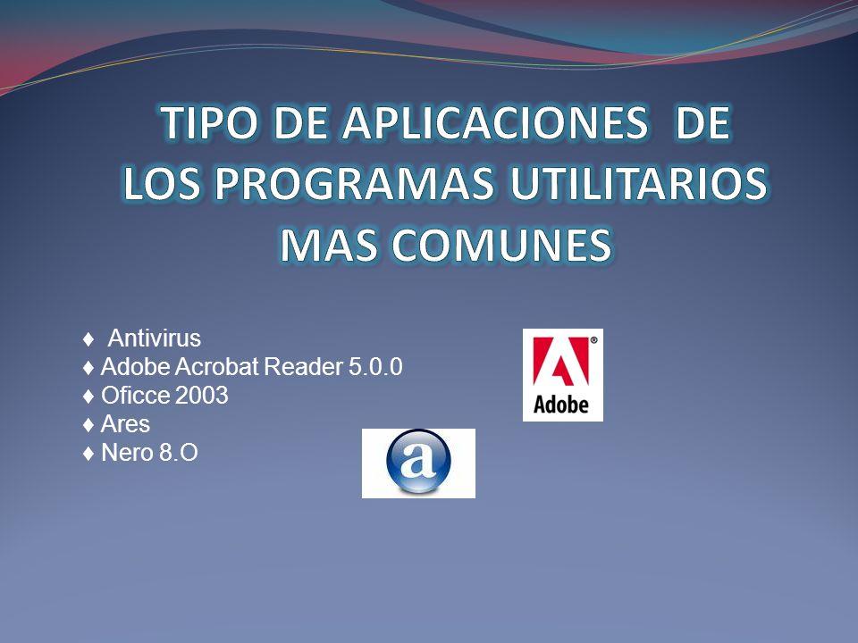 TIPO DE APLICACIONES DE LOS PROGRAMAS UTILITARIOS MAS COMUNES