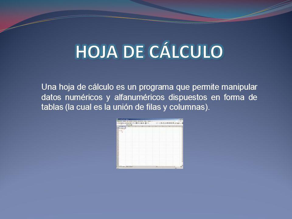 HOJA DE CÁLCULO