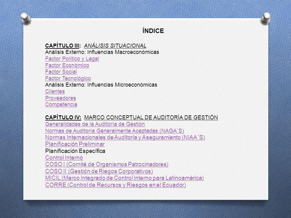 ÍNDICE Normas Internacionales de Auditoría y Aseguramiento (NIAA´S)