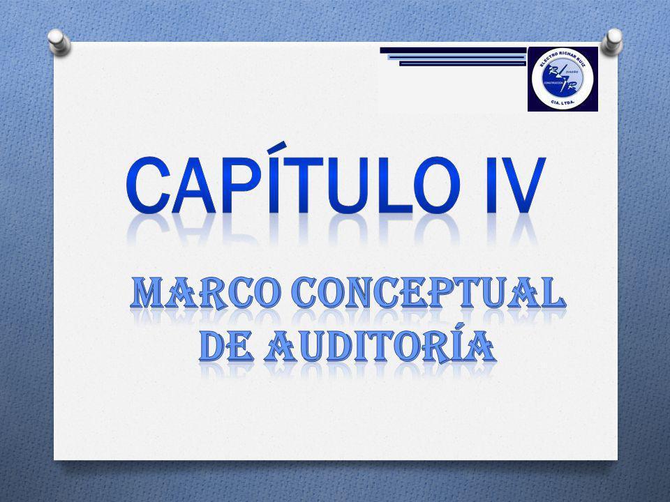 Marco conceptuAL de auditoría