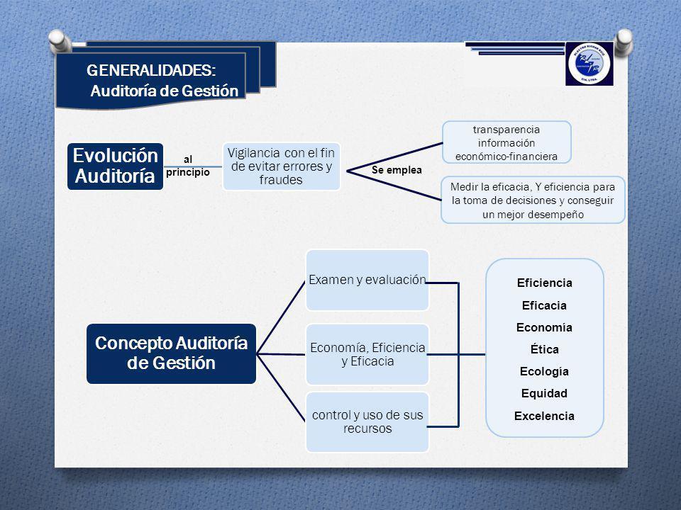 GENERALIDADES: Auditoría de Gestión